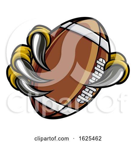 Eagle Bird Monster Claw Holding Football Ball by AtStockIllustration