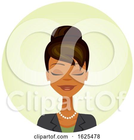 Black Business Woman with Her Eyes Closed by Amanda Kate