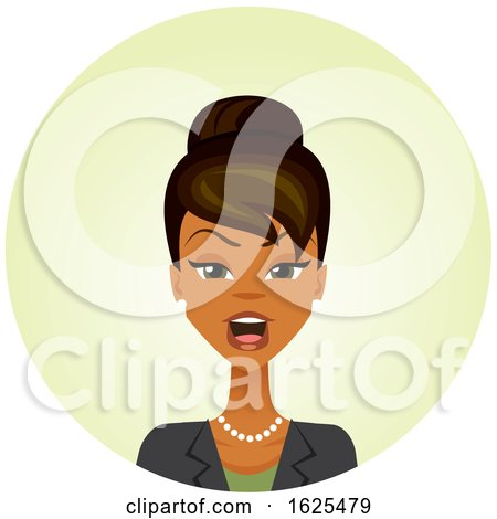 Black Business Woman with an Angry Expression by Amanda Kate