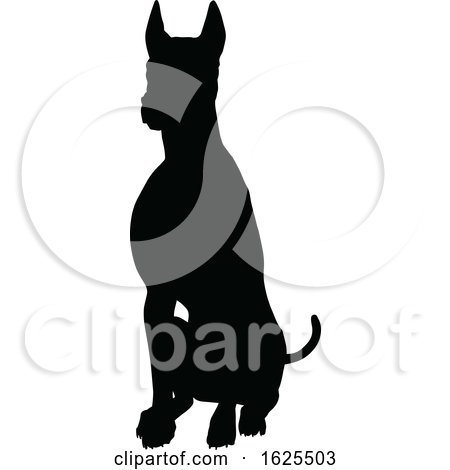 Silhouetted Dog by AtStockIllustration