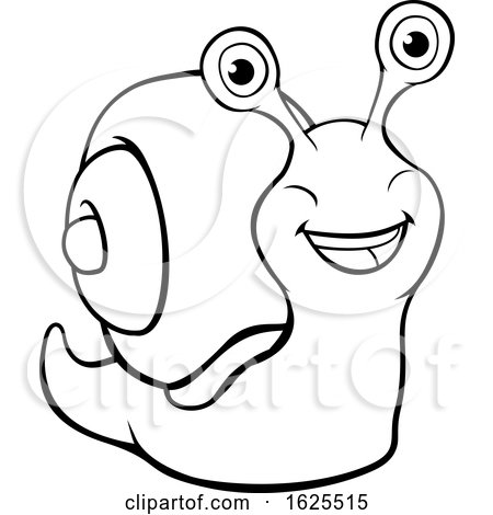 Snail Cartoon Character by AtStockIllustration