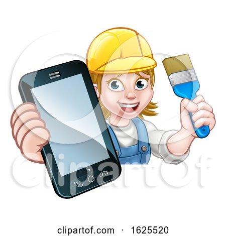 Painter Decorator Handyman Phone Concept by AtStockIllustration