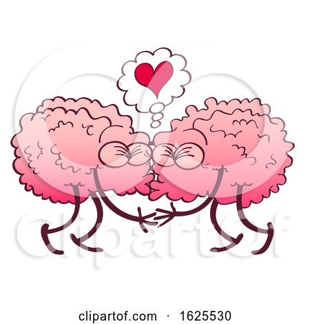 Two Brains Kissing Under a Heart by Zooco
