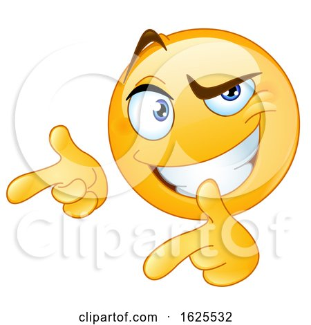 Yellow Emoji Pointing Fingers like Guns by yayayoyo