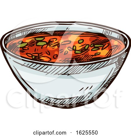 Bowl of Salsa by Vector Tradition SM