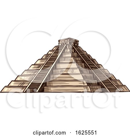 El Castillo Pyramid by Vector Tradition SM