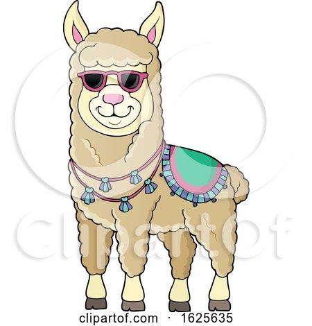 Llama Wearing Sunglasses by visekart