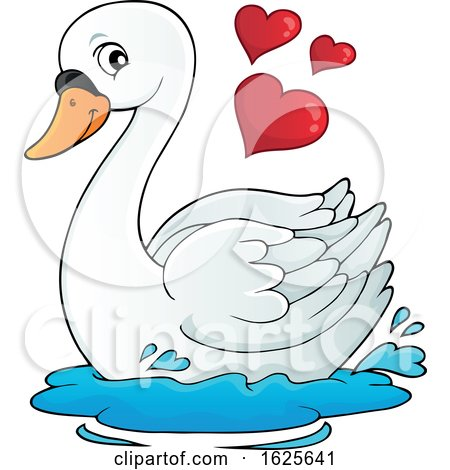 Valentine Swan with Hearts by visekart