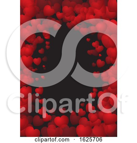 Valentine's Day Background with Heart Frame by KJ Pargeter