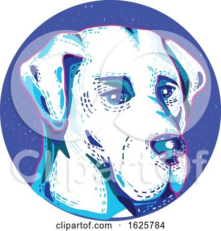 Labrador Retriever Dog Doodle Circle by patrimonio