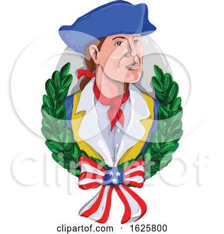 Patriot-wreath-usa-flag-RETRO by patrimonio