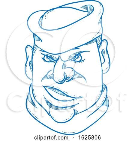 Angry Sailorman Head Cartoon by patrimonio