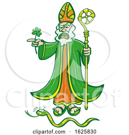 Saint Patrick Chasing a Snake by Zooco
