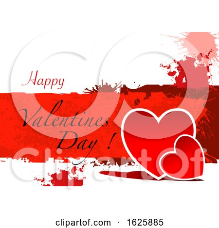 Grungy Happy Valentines Day Greeting Posters, Art Prints