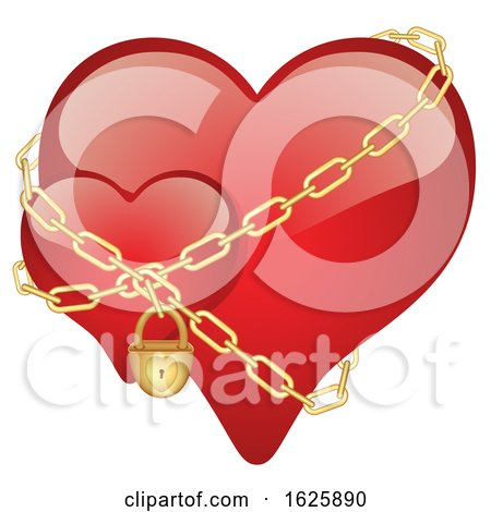 Red Valentines Day Hearts with Chains Posters, Art Prints