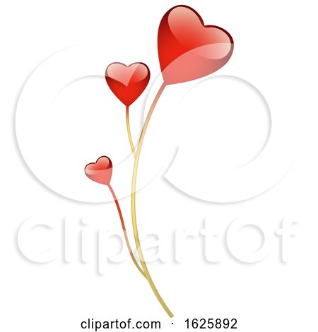 Red Valentines Day Hearts by dero
