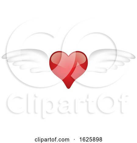 Red Winged Valentines Day Heart by dero