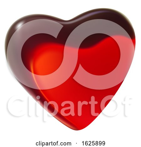 Red Valentines Day Heart by dero