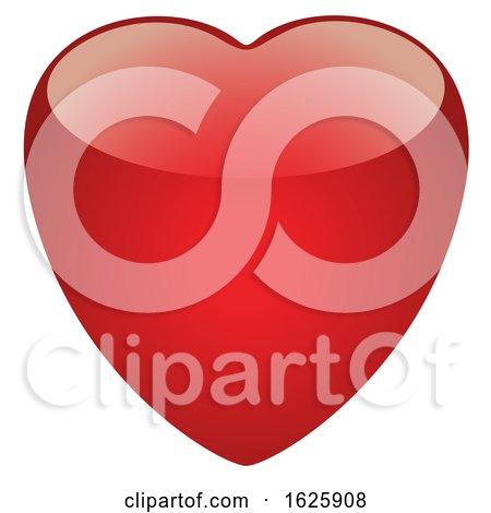 Red Valentines Day Heart by dero