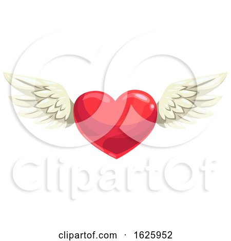Valentines Day Winged Heart Posters, Art Prints