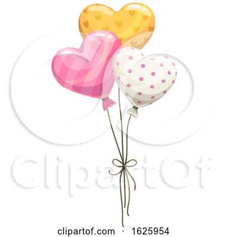 Valentines Day Balloons by Vector Tradition SM