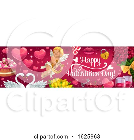 Valentines Day Website Banner Design by Vector Tradition SM