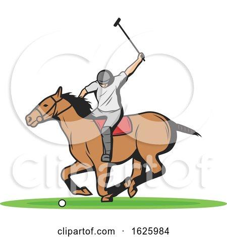 Horseback Polo Player by Vector Tradition SM