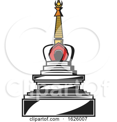 Buddhism Stupa by Vector Tradition SM