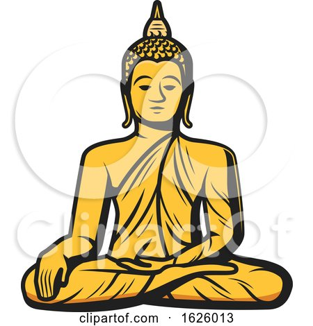 Golden Buddha by Vector Tradition SM