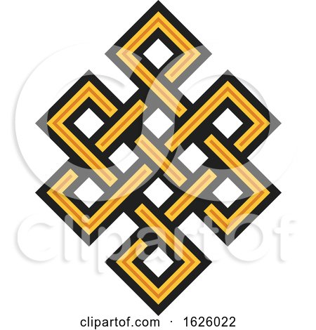 Buddhism Endless Knot by Vector Tradition SM