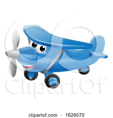 Airplane Cartoon Character by AtStockIllustration
