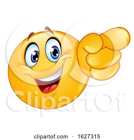 Yellow Emoji Pointing Forward by yayayoyo