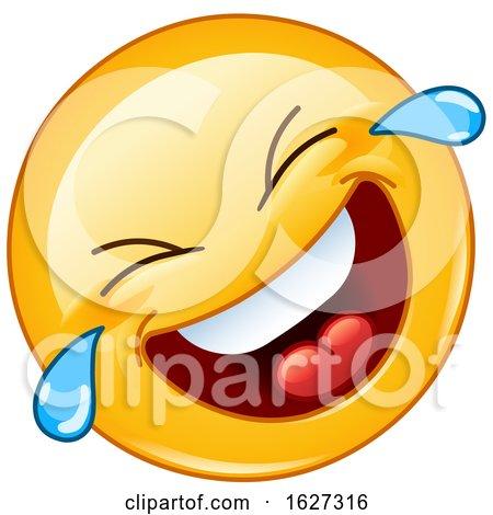 Yellow Emoji Laughing and Crying by yayayoyo