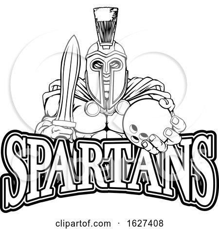 Spartan Trojan Bowling Sports Mascot by AtStockIllustration