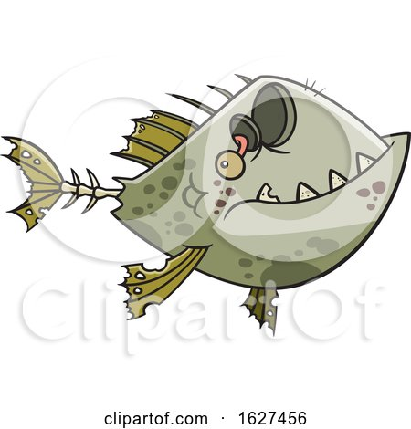 Cartoon Zombie Fish by toonaday
