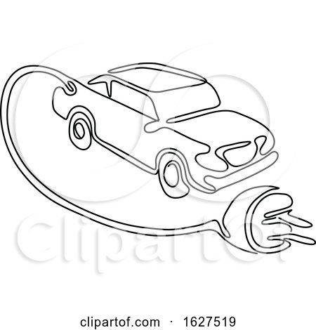 Electric Vehicle Charging Continuous Line by patrimonio