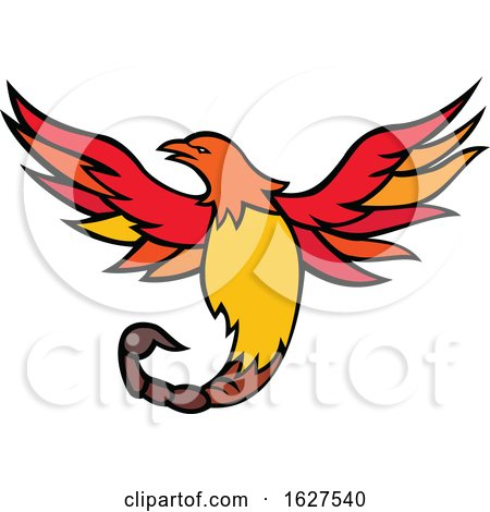 Phoenix Bird with Scorpion Tail Mascot by patrimonio