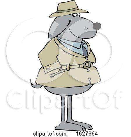 Cartoon Dog Investigator by djart