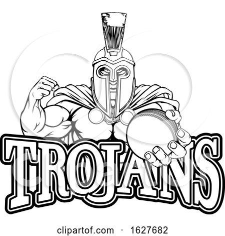 Spartan Trojan Cricket Sports Mascot by AtStockIllustration