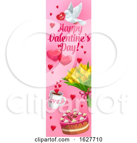 Valentines Day Vertical Website Banner Posters, Art Prints