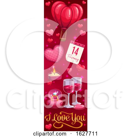 Valentines Day Vertical Website Banner Posters, Art Prints
