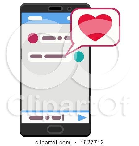 Valentines Day Love Message on a Smart Phone by Vector Tradition SM