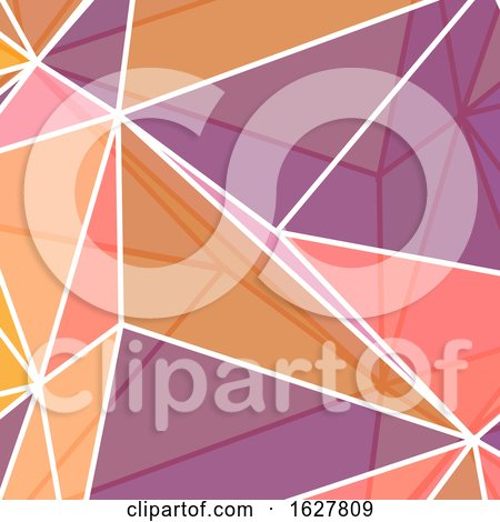 Low Poly Abstract in Coral Colours by KJ Pargeter
