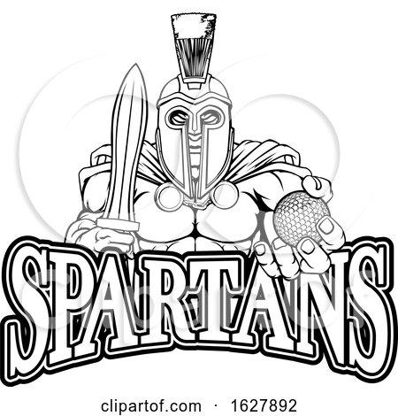 Spartan Trojan Golf Sports Mascot by AtStockIllustration