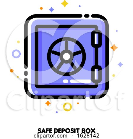 Icon of Safe Deposit Box for Banking Concept. Flat Filled Outline Style. Pixel Perfect 64x64. Editable Stroke Posters, Art Prints