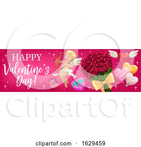 Valentines Day Website Banner by Vector Tradition SM