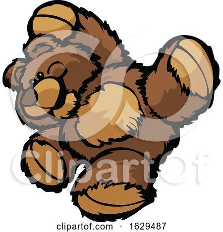 Teddy Bear Doing a Somersault by Chromaco