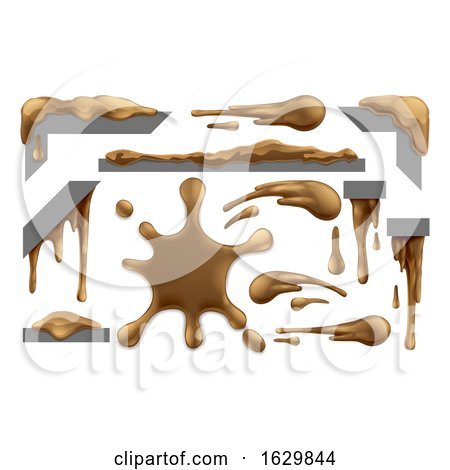 Mud or Chocolate Messy Blobs Splats and Drips by AtStockIllustration
