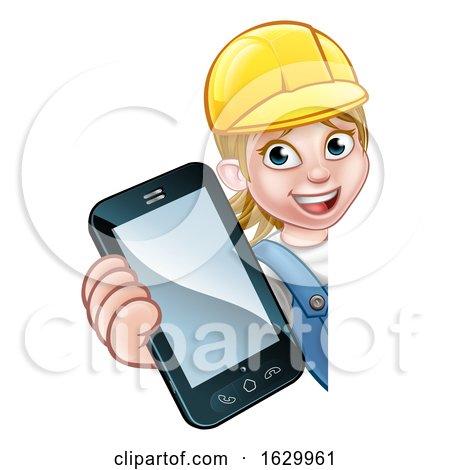 Handyman or Mechanic Phone Concept by AtStockIllustration