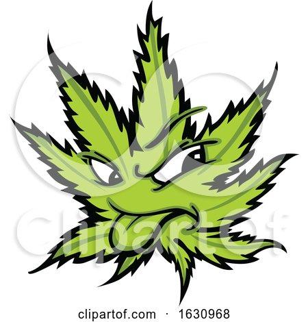 Cannabis Marijuana Pot Leaf Weed Mascot Character by Chromaco